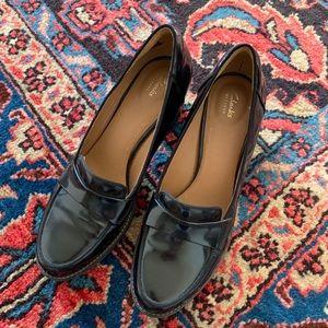 Clark's Tahara Grace Penny Loafer Heel